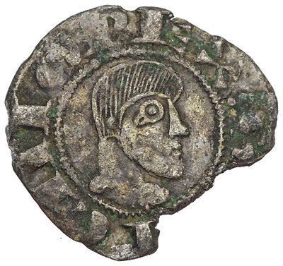 Medieval Spain. Alfonso VIII, Billon Dinero, 1158-1214, Extremely rare!