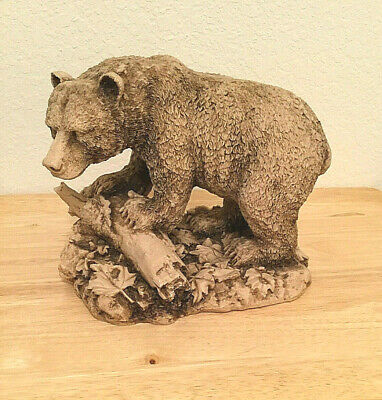 """Vintage Brown Grizzly Bear Resin Sculpture Figurine  Large 9"""" X 7.5"""""""