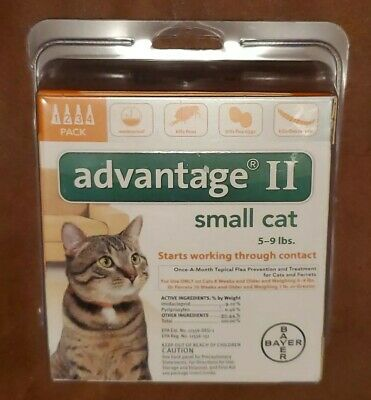 Bayer Advantage II Flea Treatment for Small Cats 5 - 9 lb 4-pack #2086