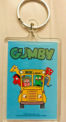 """Approx. 50x TV's """"GUMBY & Friends!"""" (Bus) Key-Chains (New)(factory packed)(2001)"""