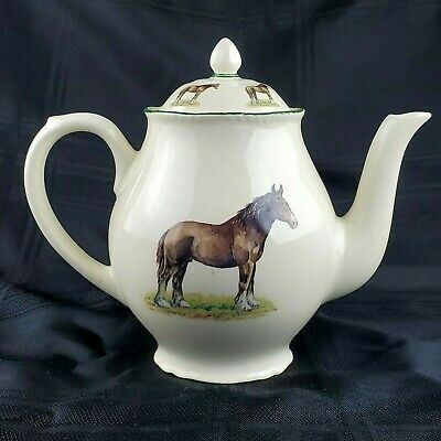 Wood & Sons Teapot Horse G.B. China Designs Norfolk England