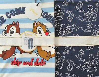 Ladies DISNEY CHIP n DALE Pyjamas UK 10/12 Women's Girls Summer PJ Set Primark