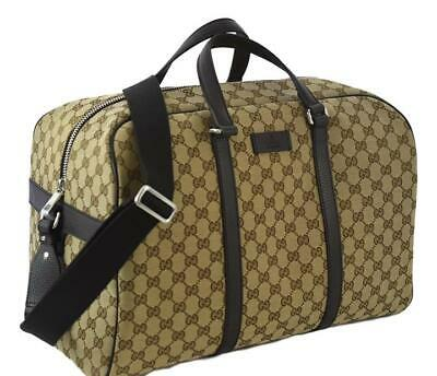 Gucci Duffle Weekend Travel Bag Holdall Luggage 449167 Made Italy Gift for Him