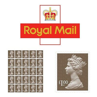 £1 Stamps x 25 Royal Mail Parcel / Value ✔️Genuine ✔️ Brand New ✔️Trusted Seller