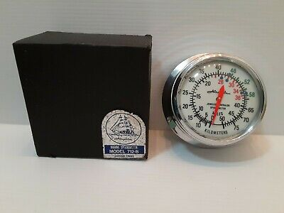 Vintage Airguide Marine Speedometer Model 712-B Chrome Finish with Original Box