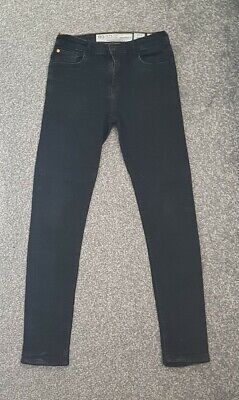 Boys Faded Black Ripstop Skinny Jeans Age 13