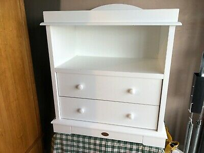 Boori  white sustainable solid wood used 2 drawer baby changing unit