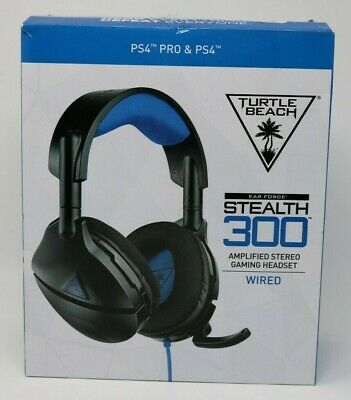 Turtle Beach - Stealth 300 Wired Amplified Stereo Gaming Headset Black Blue