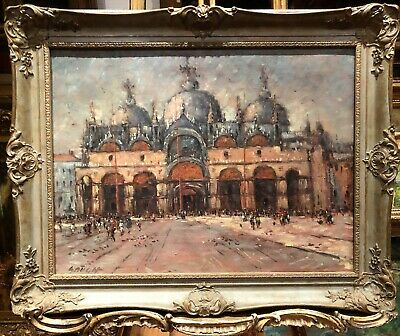Fine Oil Painting Venice Master Piece Early 20Th Century Italian School Ggf