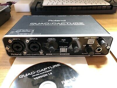 ROLAND QUAD CAPTURE 4 x 4 24-bit/192kHz USB 2.0 AUDIO INTERFACE