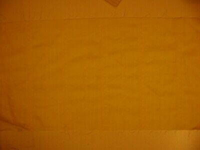 "Vintage yellow fabric with white flowered stitching, 44"" x 12"""