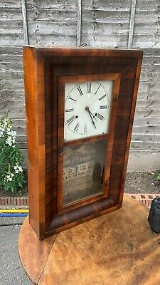 Vintage Wooden American Wall Clock Jerome & Co.spares Or Repairs *