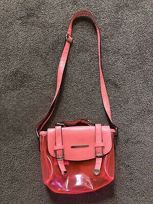 Girls Bright Pink RIVER ISLAND bag -Used Once! Fab!