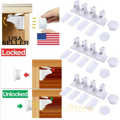 White NEW 48 PC Child Safety Cabinet Locks and Latches Baby Home Starter Kit