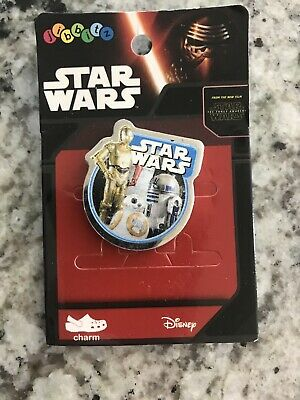 New in Packaging - RARE! STAR WARS JIBBITZ by Crocs Metal SHOE CHARM W/R2D2 3CPO