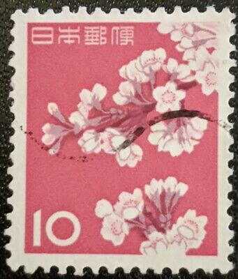 Stamp Japan 1961 10Y Cherry Blossom Used