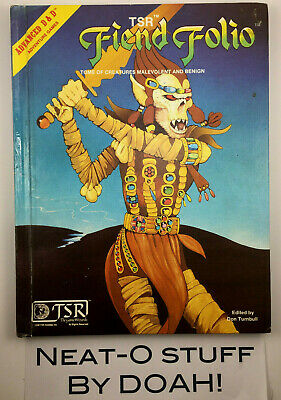 Official Advanced Dungeons & Dragons • Fiend Folio • TSR • 1981 • Free Shipping!