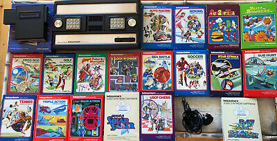 Intellivision Console Full working Order With 17 Boxed Games!