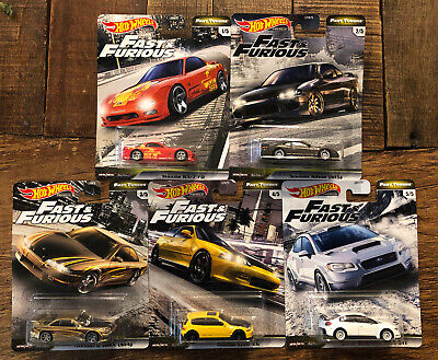 2020 Hot Wheels Fast & Furious Premium Fast Tuner Set of 5, 1/64 Diecast Cars