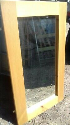 Large Ikea Wall Mirror*95x55cm* Wooden Frame*Wall Mounted with Brackets on back*
