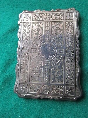 Fine Victorian Silver card case Great Maker Alfred Taylor 1854