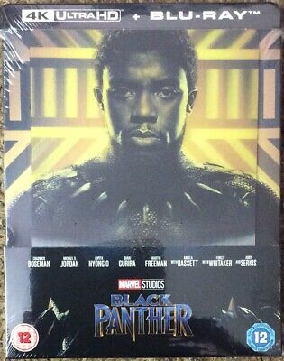 Marvel studios-Black Panther 4K ultra Hd & blu Ray Steelbook lenticular cover