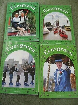 4 x EVERGREEN  quarterly magazines 2014 Immaculate Condition