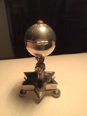 Soild Silver Russian Spice Holder 1894 Very Rare By Ivan Saltykov.