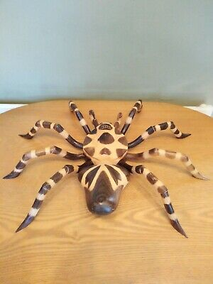 Hand Carved, Wooden, Solid, Large Spider, 54cm, Brand New