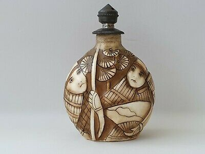 Antique Chinese Porcelain Snuff Bottle late 19th/early 20th century