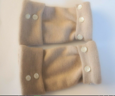Fingerless Gloves  Women's Camel Tan 100% Merino Wool Size M - L Medium - Large