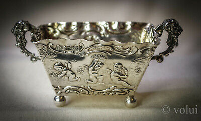 Antique Solid Silver Dutch Basket Decorated with Cherubs 1896 (450)