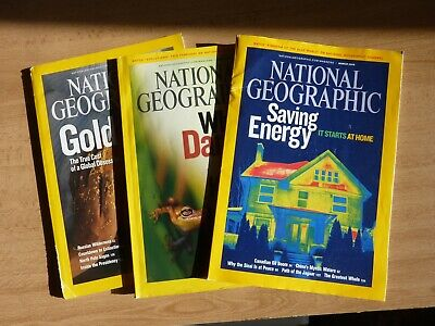 National Geographic Magazines January to March 2009