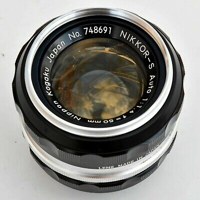 Nikkor S Auto 50mm f/1.4 AI Converted Super Sharp Lens. Exc+. See Test Images