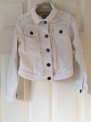 Girls Next Size 6-7 Years (122cm) White Denim Jacket VGC!!!