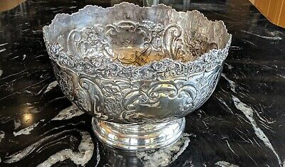 Punch Bowl - Silver Plated Reproduction From Boulton & Watt Original Mould