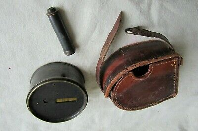 Vintage Brass Pocket Sextant by CHATBURNS LTD, LIVERPOOL and Leather Case