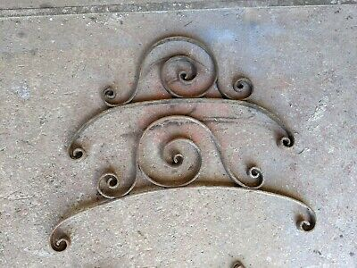 Wrought Iron Decorative Antique Gate Features *Pair* 920mm and 850mm