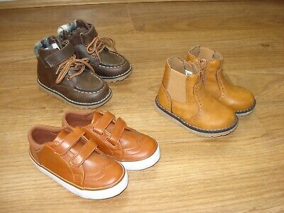 2 x pairs boys boots, 1 x pair shoes (sizes 5 & 6) Mothercare & Urban Rascals