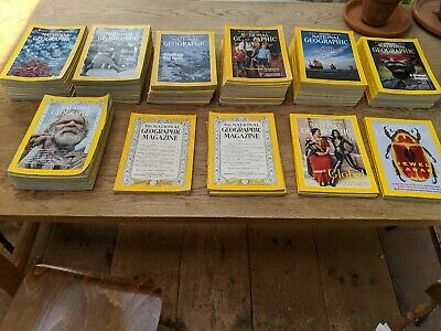 76 Bulk Lot National Geographic Magazine Collection Years various 1949 to 2001