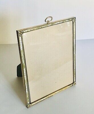 Vintage MCM 8x10 Picture Photo Frame Metal Mother-of-Pearl Wall Hanging/Tabletop