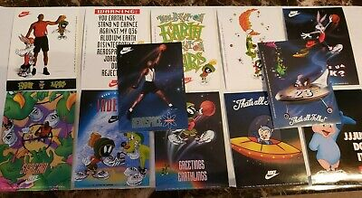 12 Card NIKE 1993 MICHAEL JORDAN Air Jordan Sticket set Looney Tunes Space Jam