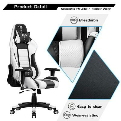 Racing Gaming Chair Swivel Recliner Leather Computer Desk Home Office Chair