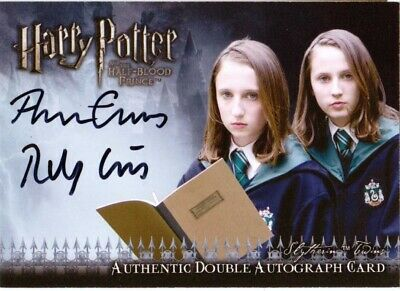 Harry Potter Half Blood Prince DUAL AUTOGRAPH Amber & Ruby Evans Slytherin Twins