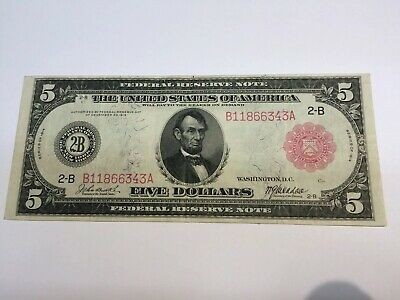 1914 Federal Reserve Large Note Red Seal