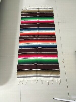 Mexican Sarape Multi Color Blanket