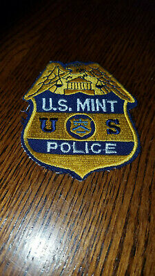 Old Style US Mint Police Patch Federal Police Treasury Department Currency Coin