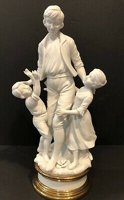"Bisque Porcelain Figurine statue 15""h, numbered 6345B"