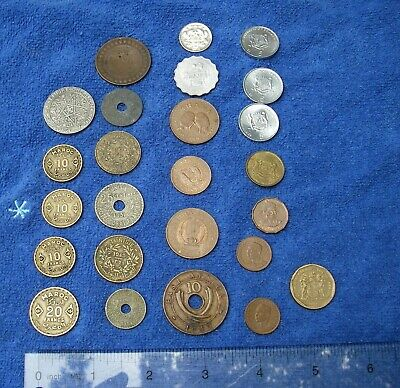 LOT:  25 Assorted AFRICAN Coins-French MOROCCO, Tunisia, East Africa 1943 10 Ct