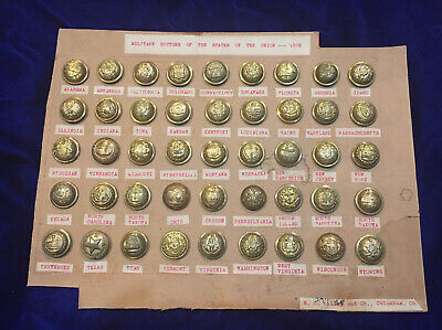 Remarkable Collection of Military Buttons from all the States of the Union 1898